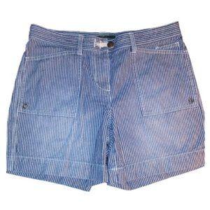 LRL Lauren Jeans Co. Striped Nautical 5 Pkt Shorts